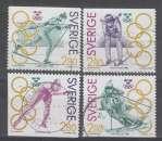 SERIE OBLITEREE DE SUEDE - CHAMPIONS SUEDOIS MEDAILLES D'OR AUX JEUX OLYMPIQUES N° Y&T 1682 A 1685
