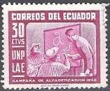 miniature Ecuador 1953 Michel 806 O Cote (2005) 0.10 Euro Education des adultes Cachet rond