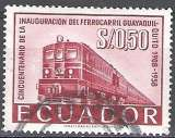 miniature Ecuador 1959 Michel 971 O Cote (2005) 0.10 Euro Locomotive diesel Cachet rond