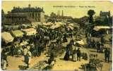 miniature cpa Caudebec les Elbeuf  jour de marché,  animée