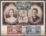 miniature Monaco 1956 - Mariage carte maximum