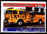 miniature Djibouti 2006 Camion de pompiers en Non dentelé