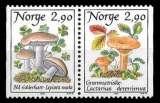 miniature Norvège - Y&T 946 et 947 ** - Champignons paire se tenant - année 1988