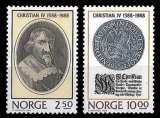 miniature Norvège - Y&T 958 et 959 ** - Roi Christian IV - année 1988