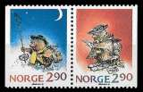 miniature Norvège - Y&T 964 et 965 ** -  Noël paire se tenant - année 1988