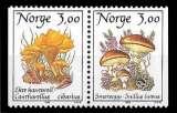 miniature Norvège - Y&T 966 et 967 ** - Les champignons paire se tenant - année 1989