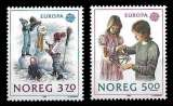 miniature Norvège - Y&T 976 et 977 ** - Europa - année 1989