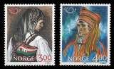 miniature Norvège - Y&T 974 et 975 ** - Costumes régionaux - année 1989