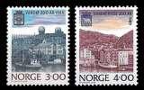 miniature Norvège - Y&T 972 et 973 ** - Bicentenaire des villes de Vardo et Hammerfest - année 1989