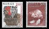 miniature Norvège - Y&T 978 et 979 ** Education école primaire - année 1989