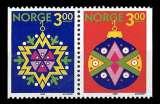 miniature Norvège - Y&T 992 et 993 ** - Noël paire se tenant - année 1989