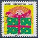 miniature FRANCE 2015 : yt 1191 Oblitéré/Used  # Bonne Année - Enfant devant un paquet cadeau