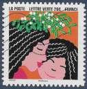 miniature FRANCE 2015 : yt 1193 Oblitéré/Used  # Bonne Année - Enfant embrassant sa mère sous le gui