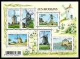 miniature France Neuf Yvert N°F4485 feuillet Les Moulins 2010