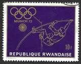 Rwanda 1971 Y&T 427 oblitéré - Jeux olympiques de 1972 à Munich - Saut à la perche