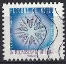 miniature France 2018 Oblitéré Used Flocons de neige en microscopie optique Timbre 4