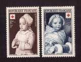 miniature France 1951  Y&T 914 - 915 ** croix rouge  cote 8,45€