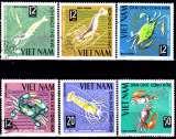 miniature Viêt Nam du Nord Y&T 442 / 47 Crustacés
