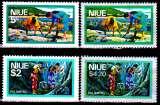 miniature Niue 169 + 217 et 174 + 222 ( Hors série ) Série courante / Récolte de crustacés et pêche aux crabes