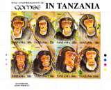 miniature Tanzanie 1029 / 36 ( feuille complète ) Chimpanzés de Gombé