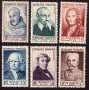 miniature France 1953  Y&T 945 à 950 ** célébrités du XIIe au XXe siècle  cote 70,00€