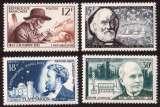 miniature France 1956 Y&T 1055 à 1058 ** inventeurs et chercheurs célèbres cote 10,50€