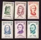 miniature France 1956 Y&T 1082 à 1087 ** célébrités étrangères cote 18,50€