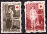 miniature France 1956 Y&T 1089 - 1090 ** croix rouge  cote 7,10€