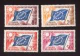miniature France 1958-59  conseil  de l'Europe Y&T 17 - 18 - 21 ** -  20 * drapeaux cote 2,70€