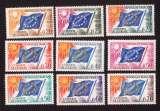 miniature France 1963-71  conseil  de l'Europe Y&T 27 à 35 **  drapeaux cote 17,00€