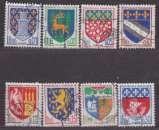 miniature France 1962-1965 YT 1351A-1354B Obl Blasons Niort Gueret Amiens Troyes Agen Nevers St Denis Paris