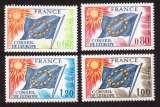 miniature France 1975-76  conseil  de l'Europe Y&T 46 à 49 **  drapeaux cote 10,50€