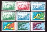 miniature France 1987-1990  conseil  de l'Europe Y&T 93 à 97  - 104 à 107 **   cote 14,90€