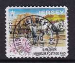 miniature TIMBRE OBLITERE DE JERSEY - TRANSPORT DE BARRIQUES DE POMMES DE TERRE SUR UN CHARIOT  N° Y&T 851