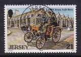 miniature TIMBRE OBLITERE DE JERSEY - PREMIERE VOITURE CONSTRUITE A JERSEY, UNE BENZ EN 1899  N° Y&T 885