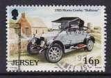 miniature TIMBRE OBLITERE DE JERSEY - VIEILLES AUTOMOBILES : MORRIS COWLEY