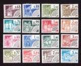 miniature France 1979-82 timbres préoblitérés  Y&T 162 à 177 ** monuments historiques   cote 14,00€