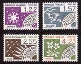 miniature France 1985 timbres préoblitérés  Y&T 186 à 189 ** mois de l'année  cote 6,50€