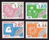 miniature France 1986 timbres préoblitérés  Y&T 190 à 193 ** mois de l'année  cote 6,50€