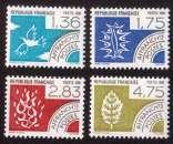 miniature France 1988 timbres préoblitérés  Y&T 198 à 201 ** les quatre éléments  cote 7,00€