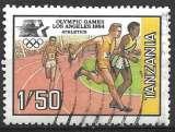 Tanzanie 1984 Y&T N° 240 oblitéré - Jeux olympiques de Los Angeles