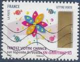 miniature FRANCE 2017 : yt 1501 Oblitéré/Used # Timbres à gratter - Moulin à vent