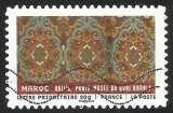 miniature France - 2011 - Y&T n° AA 522 - Obl. - Tissus du monde - Maroc - XVIIIè s. - Motifs de tapis
