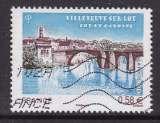 TIMBRE OBLITERE DE FRANCE - LE VIEUX PONT (XIIIE SIECLE) DE VILLENEUVE-SUR-LOT N° Y&T 4513