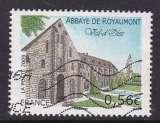 TIMBRE OBLITERE DE FRANCE - ABBAYE DE ROYAUMONT, VAL D'OISE N° Y&T 4392