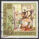 miniature E622N - Y&T n° 1704 - oblitéré - A P Gûterslob autoportrait - 1987 - Autriche