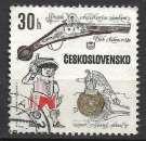 miniature Tchecoslovaquie 1969 Y&T 1701 oblitéré - Pistolets anciens : Modèle 1580