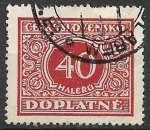 miniature Tchecoslovaquie Taxe 1928 Y&T 59 oblitéré