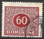 miniature Tchecoslovaquie Taxe 1928 Y&T 61 oblitéré