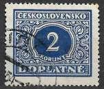 miniature Tchecoslovaquie Taxe 1928 Y&T 63 oblitéré (trace de charnière)